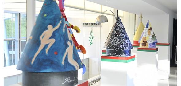 Presentación de los árboles de navidad del Recoleta Mall