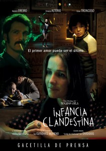 Afiche INFANCIA CLANDESTINA