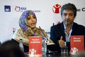 Tawakul Karman y Ricardo Darín - Foto de Alba Lajarin
